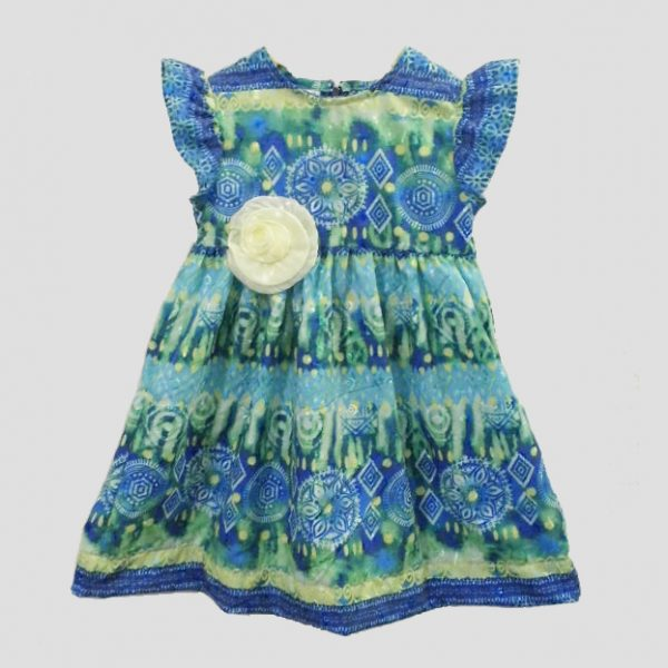 Blue&Green Patterned Dress