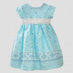 Light Blue Patterned Dress