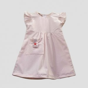 Pink Pocket Stripe Dress