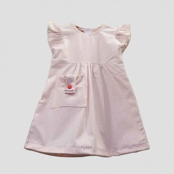 Pink Pocket Stripe Dress