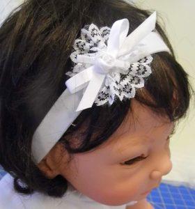 Satin elastic headband